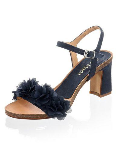 Alba Moda Sandalette mit Blütenapplikation