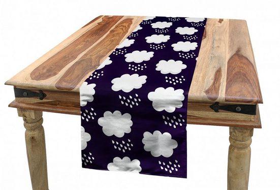 Abakuhaus Tischläufer »Esszimmer Küche Rechteckiger Dekorativer Tischläufer«, Regen Raining Kumulus-Wolken