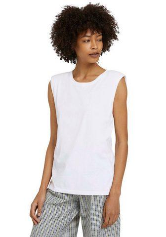 TOM TAILOR mine to five Marškinėliai be rankovių su madingas S...