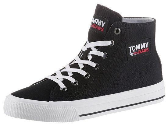 Tommy Jeans »TOMMY JEANS MIDCUT VULC« Plateausneaker mit Logo-Aufnäher