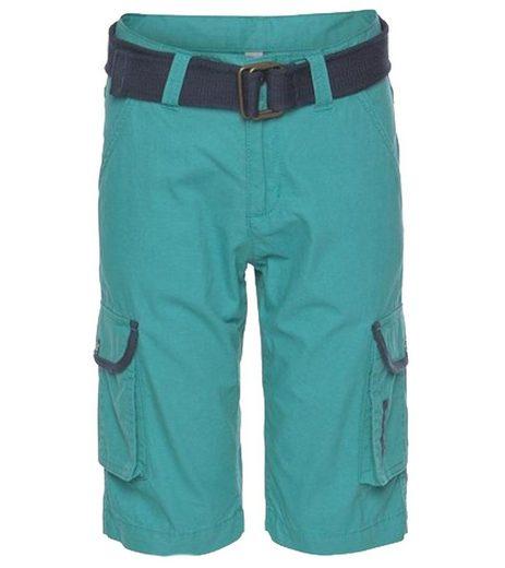 Bench. Bermudas »Bench. Freizeit-Bermuda bequeme Kinder Sommer-Shorts Kurze-Hose mit Canvasgürtel Petrol«
