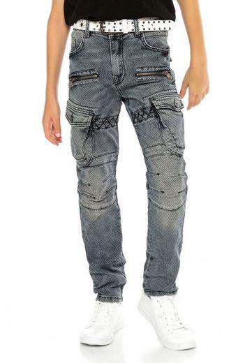 Cipo & Baxx Regular-fit-Jeans in ausgefallenem Cargo-Design