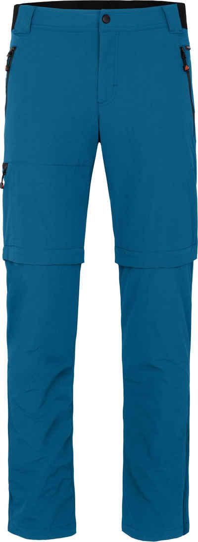 Bergson Zip-off-Hose »ARRESÖ COMFORT Zipp Off« Herren Wanderhose, leicht, strapazierfähig, Normalgrößen, Saphir blau