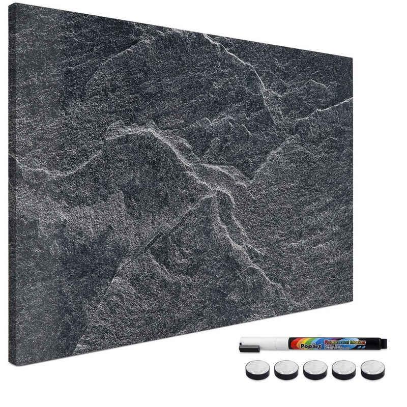Navaris Memoboard, Magnetpinnwand Memoboard zum Beschriften - 90x60 cm Notiztafel - Tafel abwaschbar mit Magneten Stift