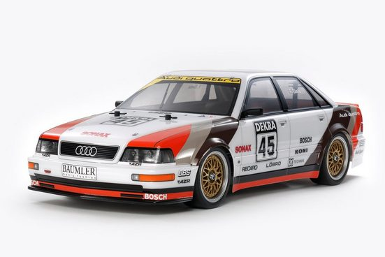 Tamiya Modellauto »Tamiya Audi V8 Tourenwagen TT-02 RC Car 1:10«, Maßstab 1:10