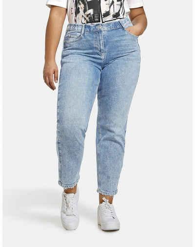 Samoon Stretch-Jeans »Jeans Jenny mit ausgefransten Säumen« (1-tlg) 5-Pocket