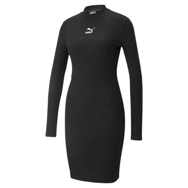 PUMA Sweatkleid »Classics geripptes Kleid mit langen Ärmeln für Damen«