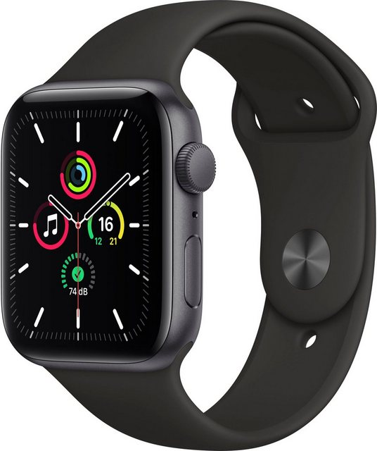 Smartwatches - Apple SE GPS, Aluminiumgehäuse mit Sportarmband 44mm Watch (inkl. Ladestation (magnetisches Ladekabel)  - Onlineshop OTTO