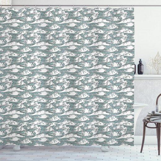 Abakuhaus Duschvorhang »Moderner Digitaldruck mit 12 Haken auf Stoff Wasser Resistent« Breite 175 cm, Höhe 180 cm, Blauer Himmel Dreamy Wolke Shapes