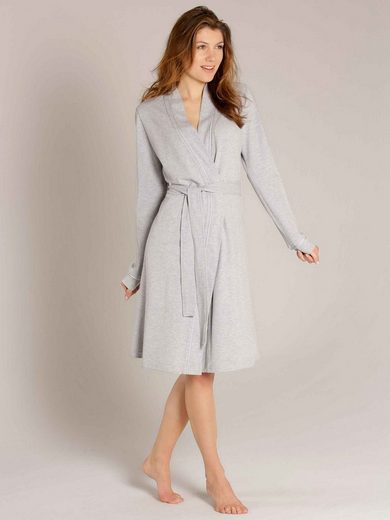 Damenbademantel »Polo Piqué Bademantel Kimono Länge 100cm«, Taubert