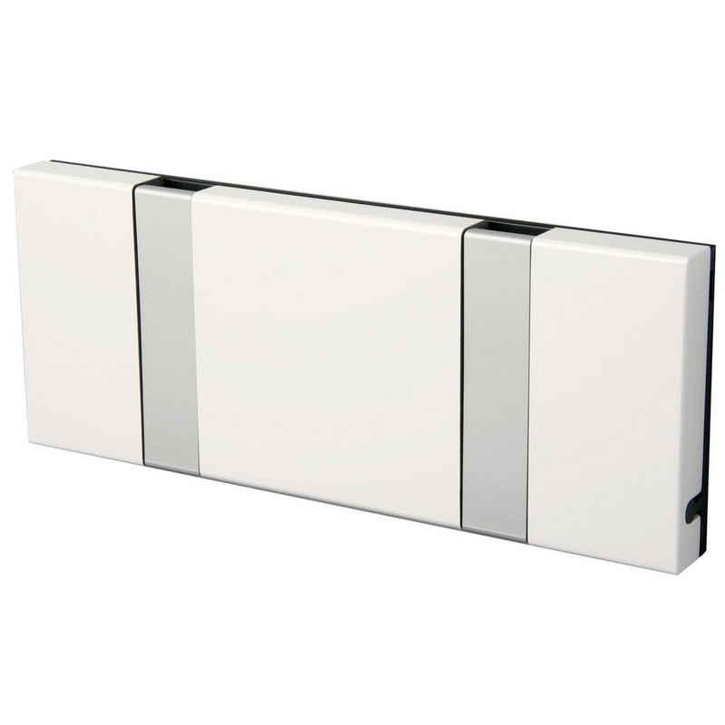 LoCa Garderobe »LoCa Garderobe Knax 2 weiß mit Alu Haken klappbar Länge 19,8 cm«