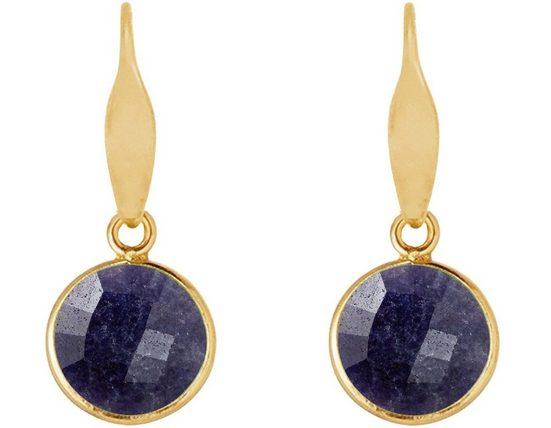 Gemshine Paar Ohrhänger »Saphir Midnight Blau«, Made in Spain
