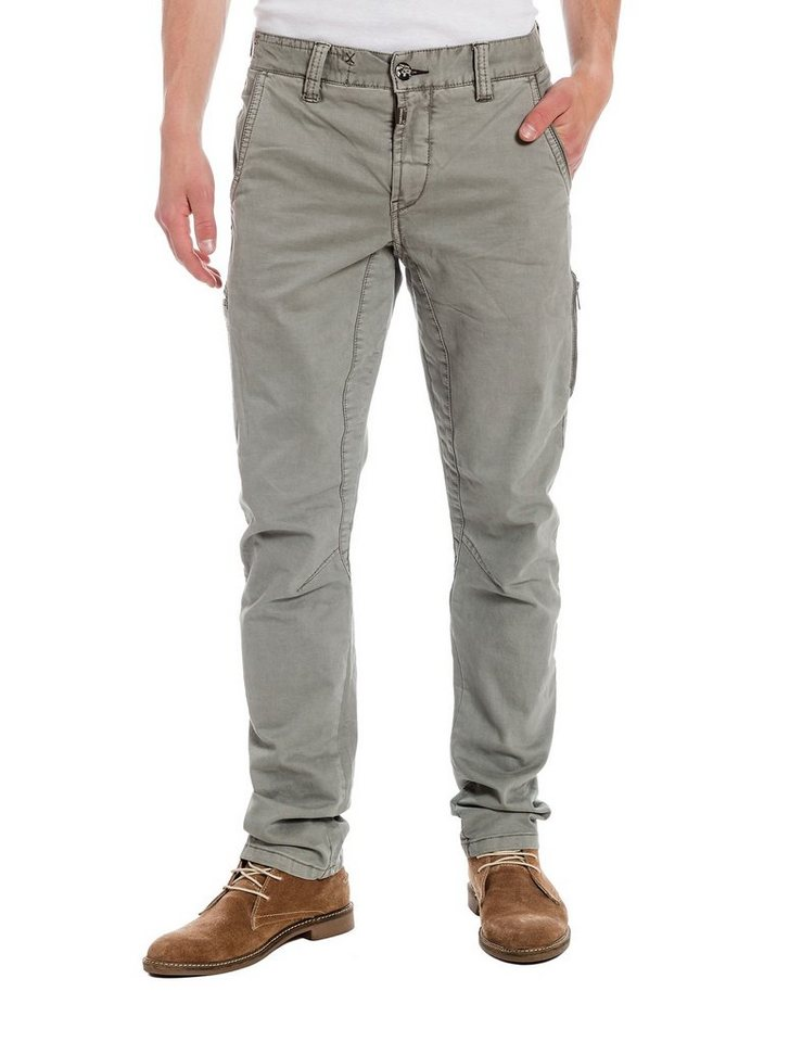 TIMEZONE Hosen lang »AxelTZ 3D traveller pants« in military grey