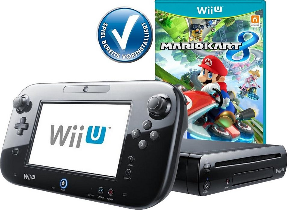 wii u premium pack mario kart vorinstalliert mit 3. Black Bedroom Furniture Sets. Home Design Ideas