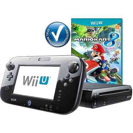 Wii U Premium Pack + Mario Kart vorinstalliert Konsolen-Set mit 3 Jahren Garantie *