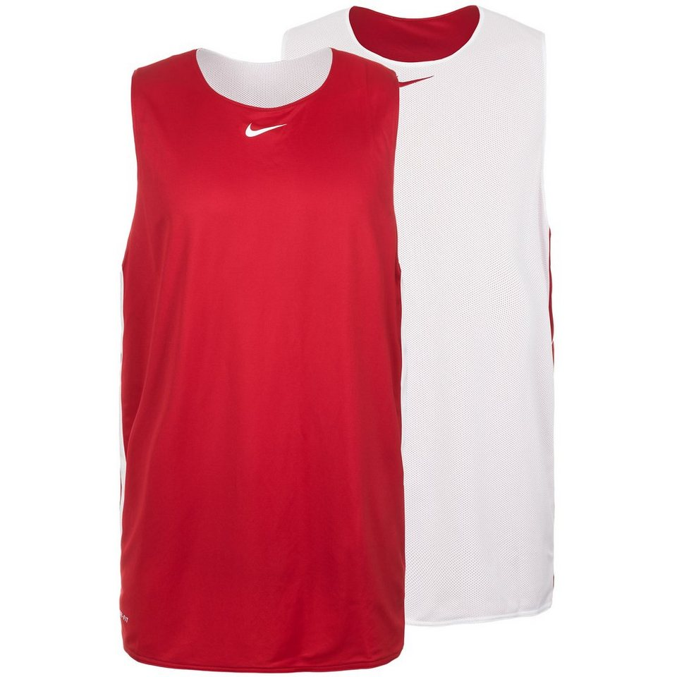 NIKE Hustle Reversible Basketball Trikot HERREN in weiß / rot