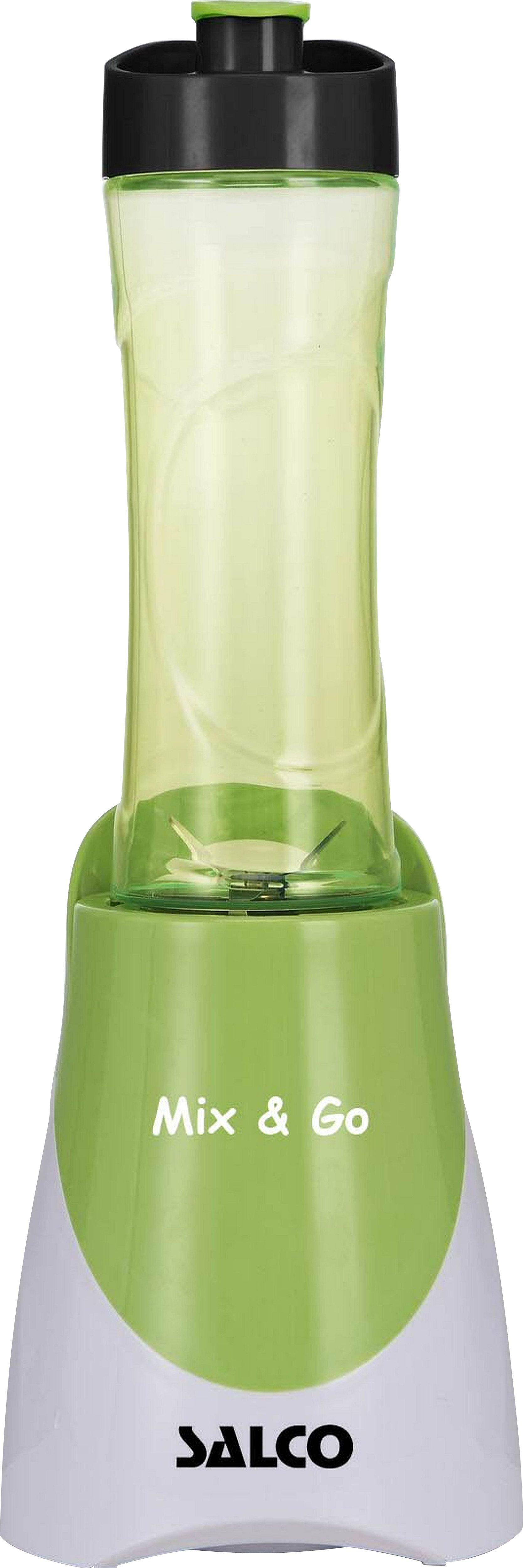 Salco Smoothie-Mixer SM-14 »MIX&GO«, 300 Watt, weiß-grün