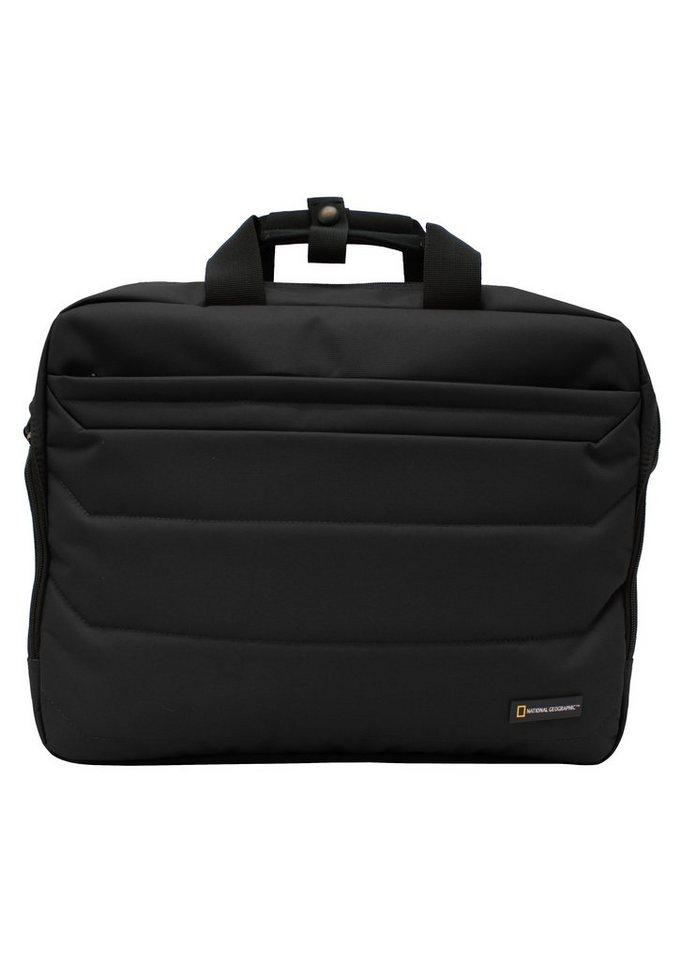 National Geographic, Schultertasche mit Laptopfach, »Pro«. in schwarz