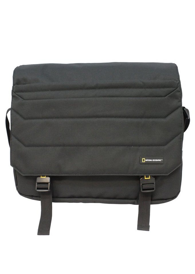 National Geographic, Messengerbag mit Laptopfach, »Pro«. in schwarz
