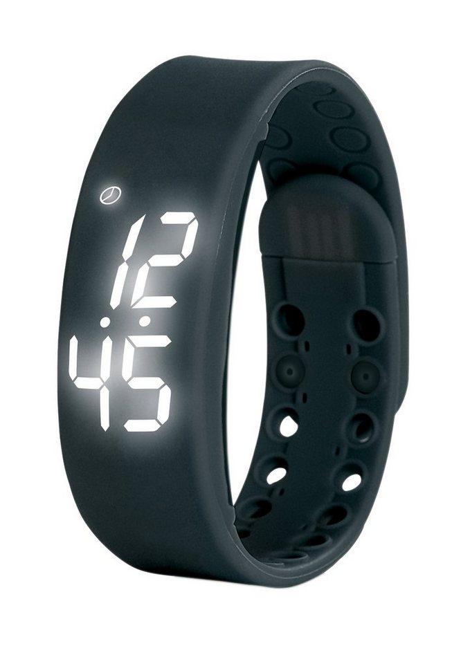 VITALmaxx Fitness-Armband LED schwarz in schwarz