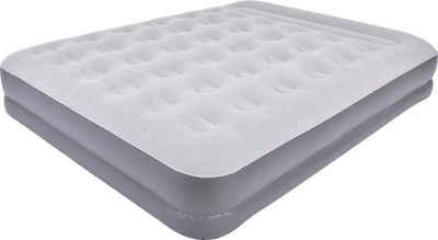 Avenli Luftbett »Premium 203x157x37 cm selbstaufblasend mit eingeba«, (mit eingebauter Pumpe und Transporttasche), beflockte Oberfläche