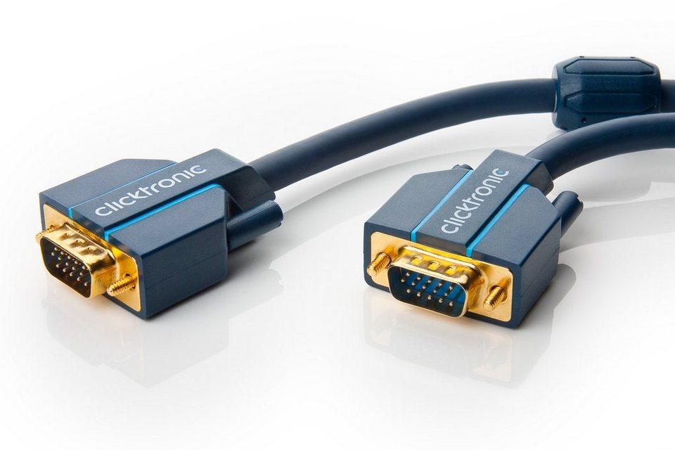 Clicktronic VGA Verbindungskabel »Monitorkabel für Videosignale bis WQXGA«