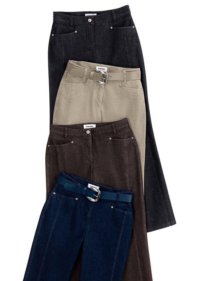 Cosma Jeans mit bewährter Cotton-Feeling-Ausrüstung in schwarz