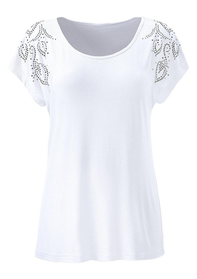 Ambria Shirt mit überschnittenen Schultern in weiß