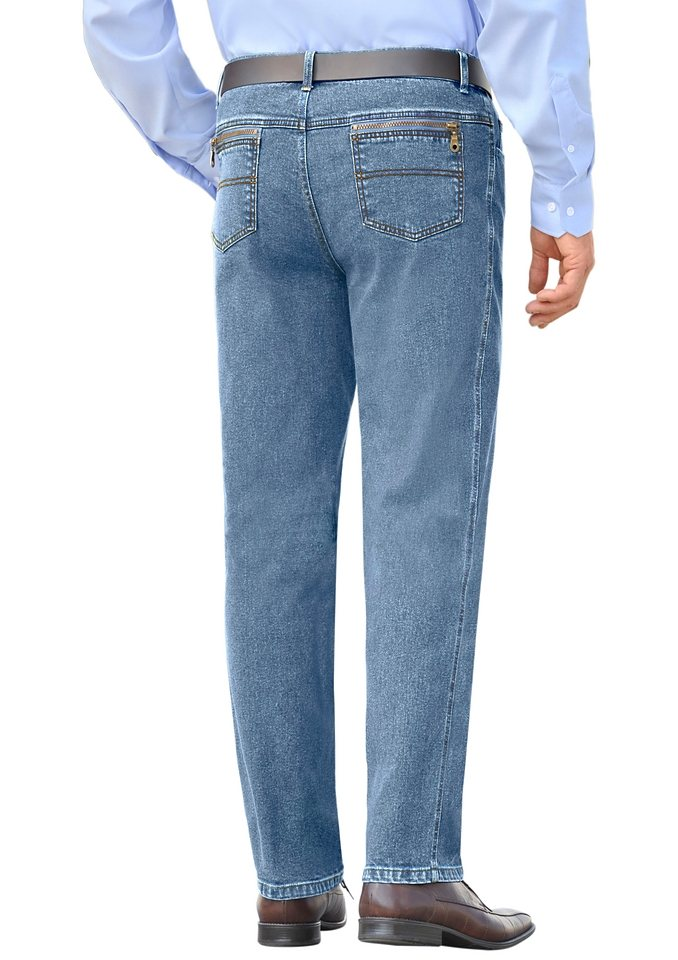 J. Witt Collection Jeans in 5-Pocket-Form in blue-bleached