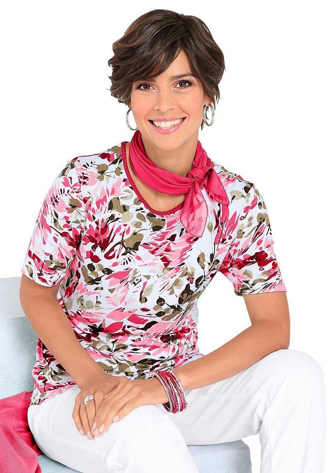 Shirt in koralle-bedruckt