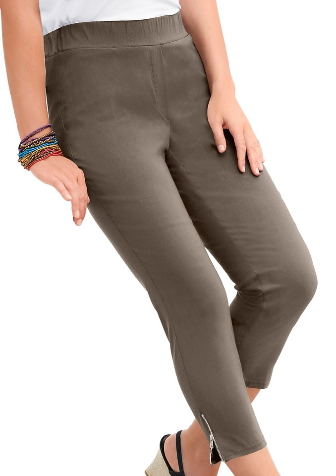 Adelina 7/8-Hose in aktueller Bengalin Qualität in taupe