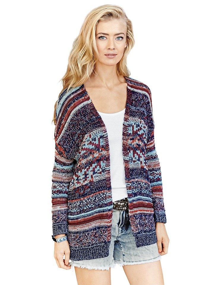 Cardigan in bunt