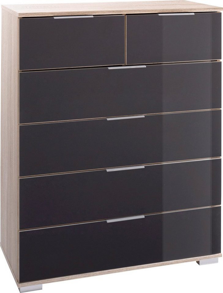Wimex Schubkastenkommode »Easy«, mit Glas- oder Spiegelfront grau ...