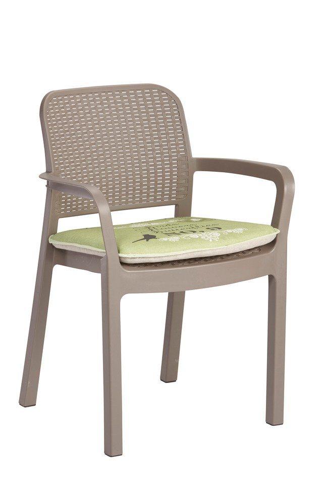 Sesselauflage, (2 Stück) in grün