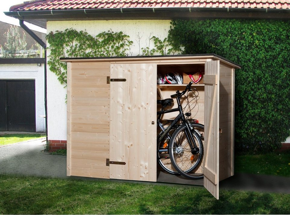 weka fahrrad m lltonnenunterstand b t h 205 84 151 cm. Black Bedroom Furniture Sets. Home Design Ideas