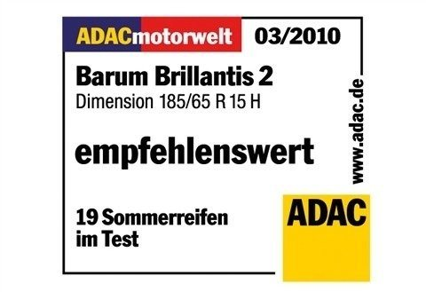 Sommerreifen »Barum Brillantis 2, 175mm« in schwarz