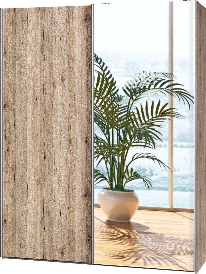Garderobenschrank, CS Schmal, »Soft Smart«, 150 cm breit in sanremo/sanremo/Spiegel