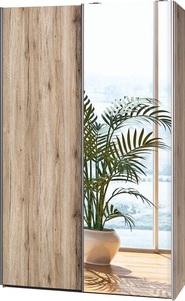Garderobenschrank, CS Schmal, »Soft Smart«, 120 cm breit in sanremo/sanremo/Spiegel