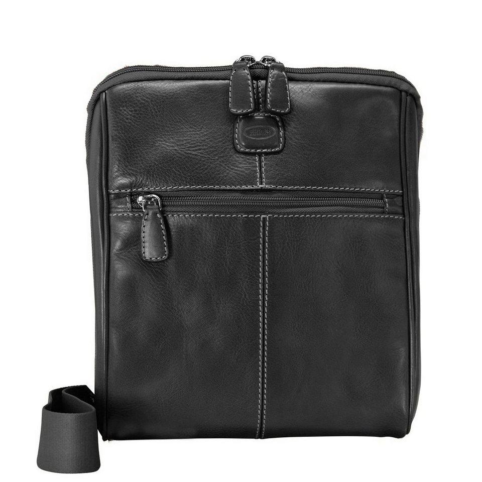 Bric's Life Pelle Schultertasche Leder 24 cm in black