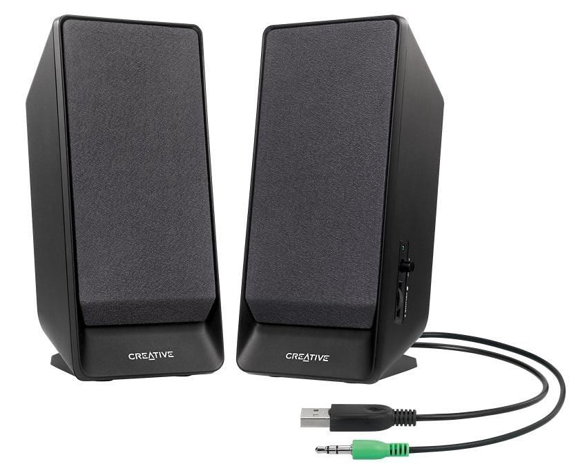 Creative Lautsprecher »A50 2.0 Lautsprecher System schwarz«