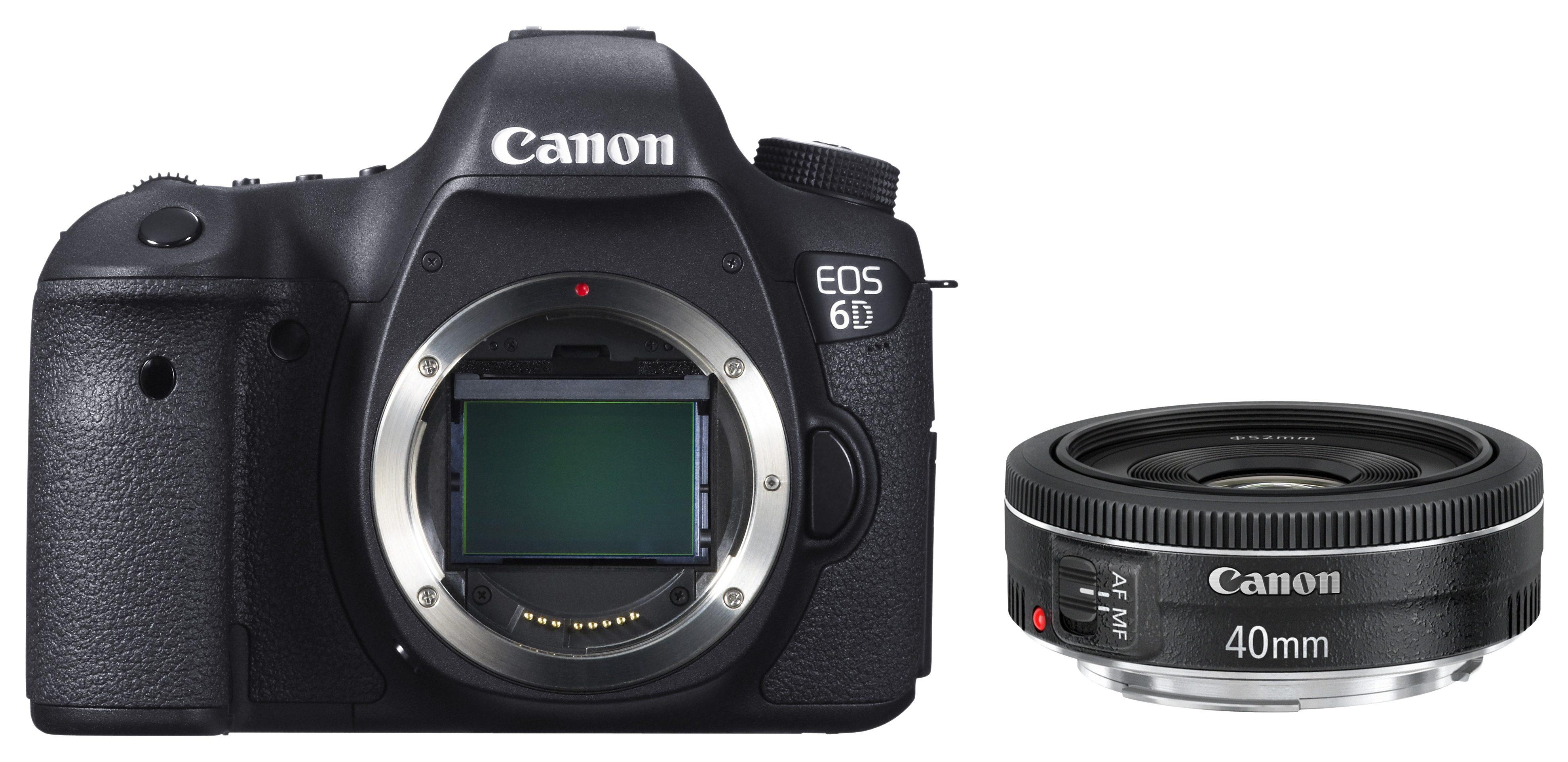 Canon EOS 6D Spiegelreflex Kamera, EF 40 STM F2.8 Pancake, 20,2 Megapixel, 7,7 cm (3 Zoll) Display