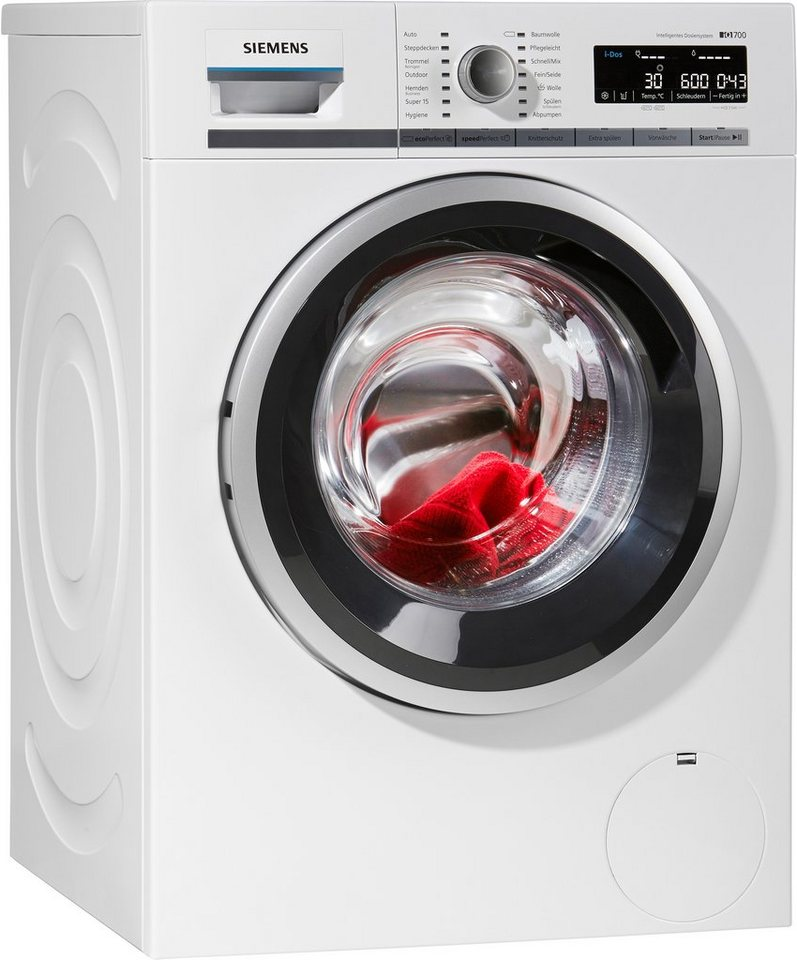 siemens waschmaschine iq700 wm14w640 i dos a 8 kg 1400 u min online kaufen otto. Black Bedroom Furniture Sets. Home Design Ideas