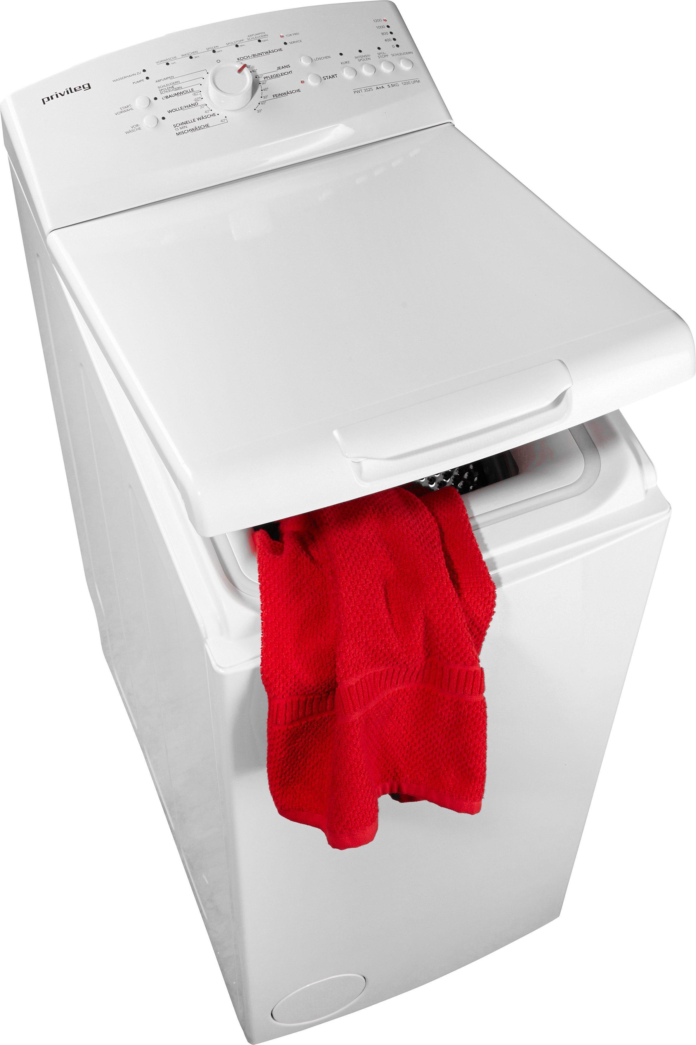 Privileg Waschmaschine Toplader PWT 3525, A+, 5,5 kg, 1200 U/Min