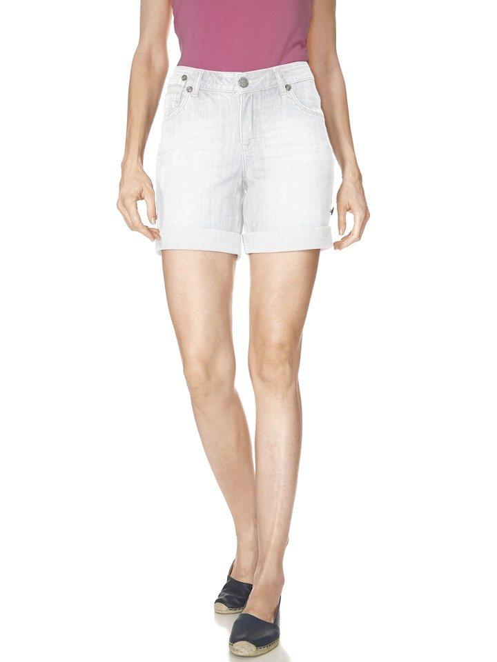 Mandarin Shorts in weiß