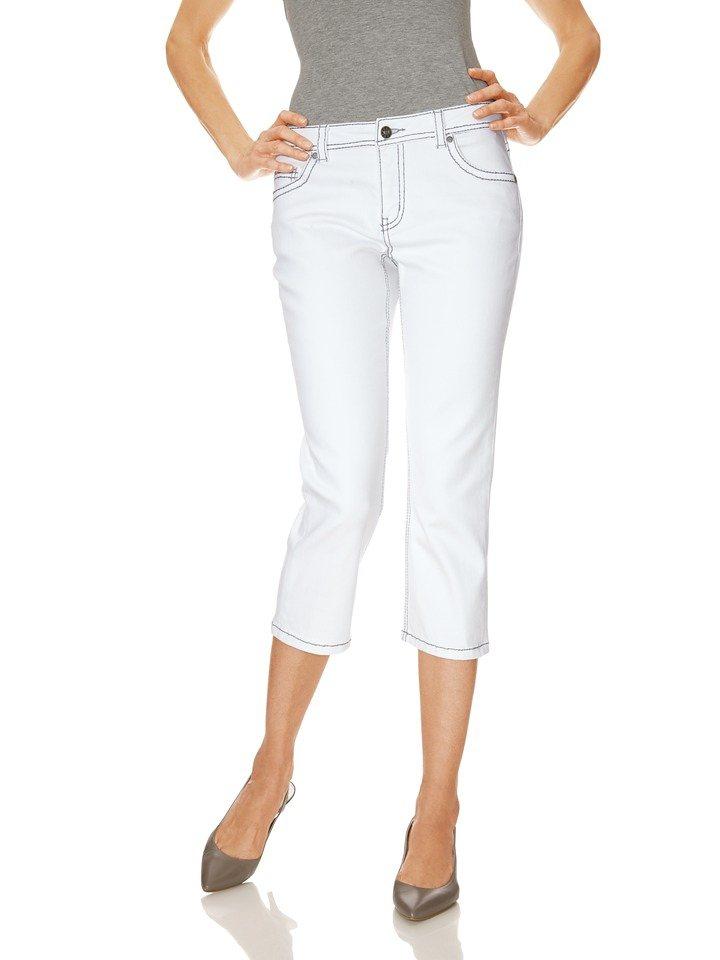 Capri-Jeans in weiß