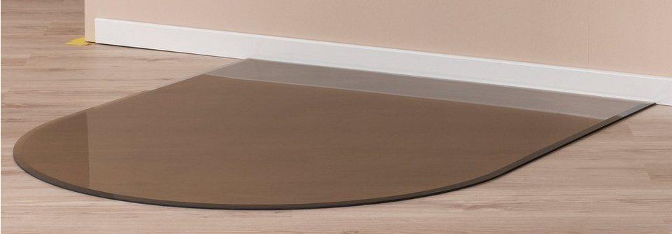 Glasbodenplatte für Kaminöfen »Segmentbogen« in braun