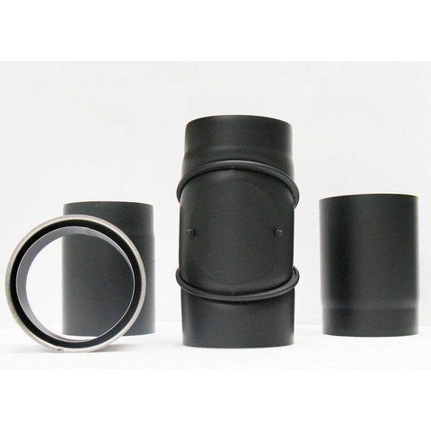 Ofenrohr-Set »Ø 180« 4-teilig in schwarz