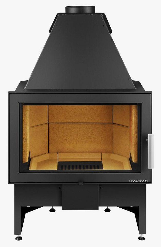 Kamineinsatz »Komfort«, 8 kW, ext. Luftzufuhr, Email-Oberflächen Technologie in grau