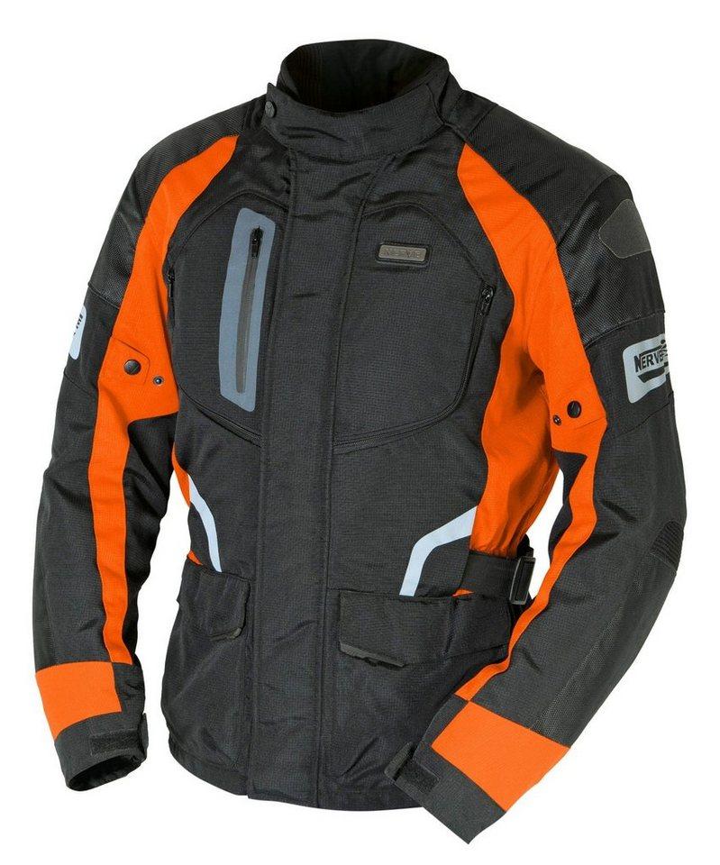 Nerve Herrenmotorradjacke »Spark« in orange/schwarz