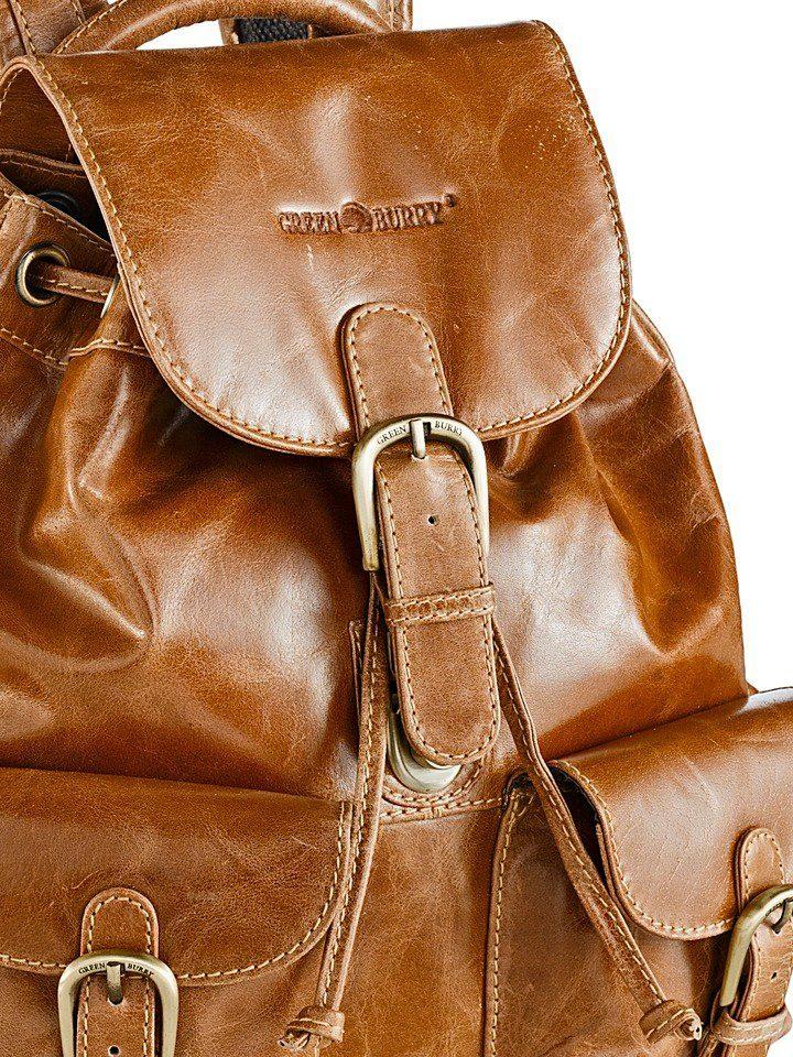 Greenburry Rucksack aus Büffelleder
